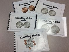 These are our little books that are included in our money bundle.  You also get a great coin chart,games, puzzles and a rap on coin identification as well as a step by step lesson plan for 4 weeks. $ #money#math#TPT#teacherspayteachers#learning#education#teaching#books#MP3 songs#puzzles#games http://www.teacherspayteachers.com/Product/Coins-Ride-into-Common-Core-Music-Math-and-Economics-681638