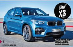 2017 BMW X3 rendering shows a sportier design - http://www.bmwblog.com/2016/04/10/2017-bmw-x3-rendering-shows-sportier-design/