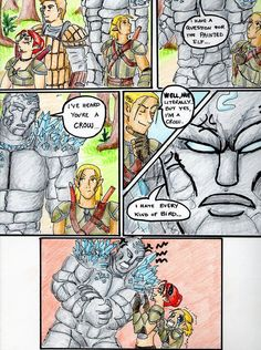 Best conversation ever between Shale and Zevran X3 Dragon Age: Origins is © Bioware & EA