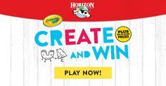 @Horizon is partnering with @Crayola to give away hundreds of prizes! I just played the Create and Win game for a chance to WIN! #sweepstakes @HorizonCrayola 18+ Rules: