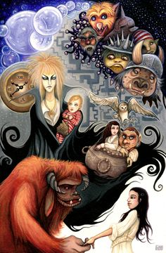 I love Labyrinth - Jim Henson Jim Henson, David Bowie, Labyrinth Film, Labyrinth Tattoo, Goblin King, The Dark Crystal, Fan Art, Nerd Love, Illustrations