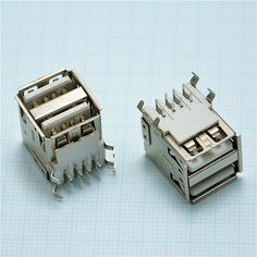 2.39$  Watch more here - 10 pcs DIY 90 degrees Double USB A 2.0 Female 8 pin Welding Solder Plug Jack Female Socket Connector For mobile power supply   #bestbuy