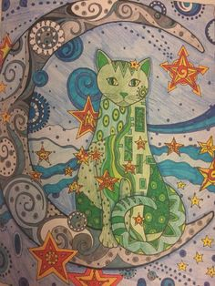 Doodle cats coloring book