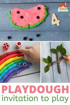 math playdough invitations to play