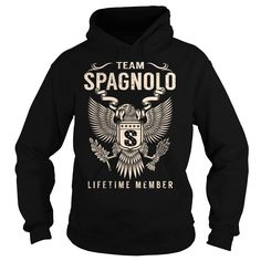 (Tshirt Best Sale) Team SPAGNOLO Lifetime Member Last Name Surname T-Shirt Shirts of year Hoodies Tees Shirts