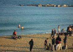 A spot on the Barceloneta beach on new-years day 2012!