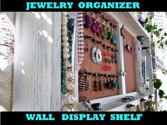 Joyería organizador pared pantalla estante por datedbydesign
