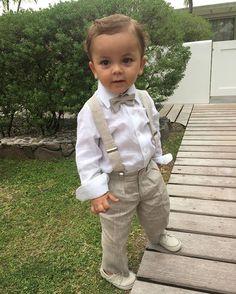Destination wedding: Helena Bordon e Humberto Meireles Baby Boy Wedding Outfit, Boy Baptism Outfit, Baby Boy Dress, Baby Suit, Baptism Outfits For Boys, Boys Summer Outfits, Baby Boy Outfits, Kids Outfits, Fashion Kids