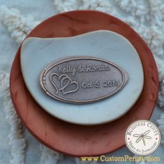 Wedding Favors Custom Pressed Penny Copper Pennies ((this is exactly what I want to do if I ever have a wedding...it's some thing we collect on all our trips together.))