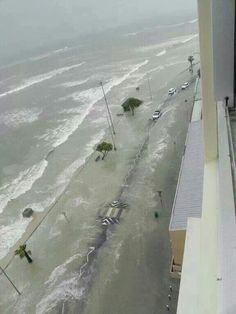 20 Sept. 2013. Beach Road Strand  South Africa. Heavy stormy weather. Snow on all of the Hottentots Holland mountains including Table Mountain.