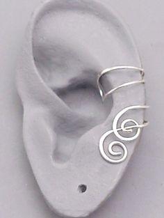 """way cool ear piece...no piercings. """"bajoran earcuffs"""""""