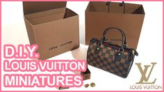 [Jina House - Miniature] HOT Louis Vuitton Bag miniatures!! 루이비통 미니어처 名品...