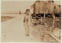 Joseph Velcich?, seven years old. Beginning to pick shrimp for Peerless Oyster Co. Location: Bay St. Louis, Mississippi. Date Created/Published: 1911 March. LOC original medium: 1 photographic print. Picture of child labor by Lewis Wickes Hine.