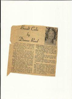 Bundt Cake by Donna Reed #justapinchrecipes