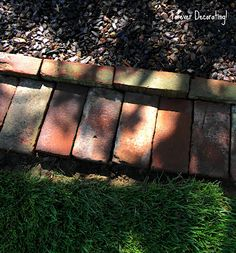 Use up that pile of bricks you found and make a border for your garden or walk way.......D.