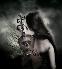 Goth Gothic fantasy violin