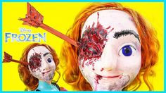 OMG! #DisneyPrincessAnna was shot in the eye with a huge arrow by the monstrous invaders! Let's help her to pull it out and defend her country! Find out how to do this makeup transform of #frozenDisney Elsa.