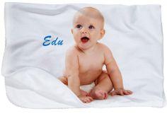Manta de rizo polar para bebé, impresa en digital como recuerdo de tu bebé