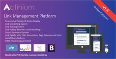 Actinium - URL Shortener & Link Management Platform