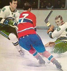 Montreal Canadiens vs. California Seals.