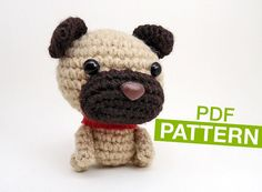 Cute Dog CROCHET PATTERN - Instant Download. Amigurumi Dog Pattern