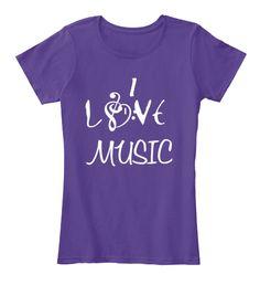 I L  ' Ve Music Purple T-Shirt Front