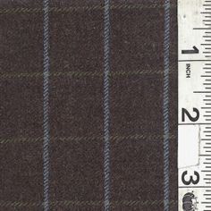 Charcoal Plaid Wool Flannel. For bedspread. $10.75 / yard