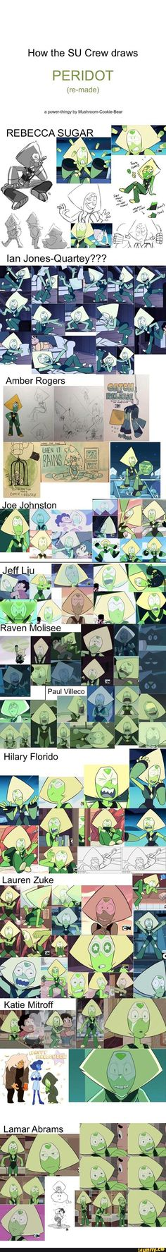 How the SU Crew draws Peridot ~ ! I absolutely looove the stylistic freedom this show encourages. UvU