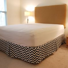 Chevron Bed Skirt.