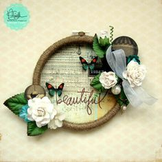Embrodiery Hoop created by Erica Houghton to celebrate our Dads and Grads Blog Hop this week.