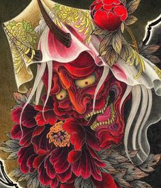 """In the """"Cui Tattoo"""" eBook pages pdf) by brushstrokes of black ink bring to life the renowned koi carp, bold lines outline… Japanese Demon Tattoo, Japanese Dragon Tattoos, Hannya Mask Tattoo, Hanya Tattoo, Samurai Tattoo, Samurai Art, Culture Day, Snake Drawing, Asian Tattoos"""