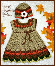 Vestido de acción de Gracias 12 meses a 18 por SweetSouthernBabies