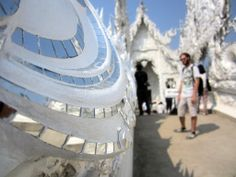 Macro of the White Temple bridge with Dale in the distance