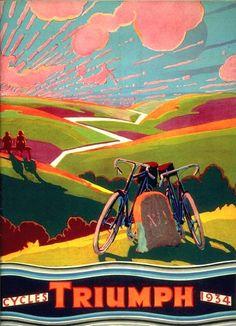 Vintage Poster. Triumph cycles. 1934.