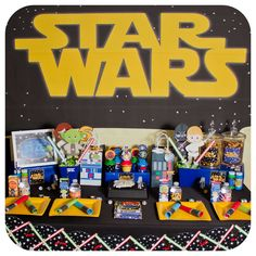 Star Wars birthday party dessert table! See more party planning ideas at CatchMyParty.com!