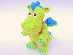 dragon amigurumi, dragon crochet, dragon crochet pattern, dragon crochet toy, dragon amigurumi doll Crochet Ideas, Crochet Dragon, Dinosaur Stuffed Animal, Blog, Amigurumi, Crochet Granny, Crochet Stitches, Knit Patterns