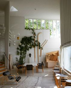 Apparently this is Alvar Aalto's studio...pretty awesome...especially the wooden things on the wall
