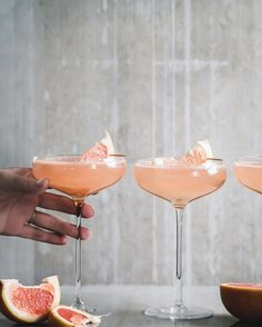 Grapefruit Basil Gin and Tonic Grapefruit, Gin, Food Photography, Champagne, Tableware, Dinnerware, Dishes, Jeans