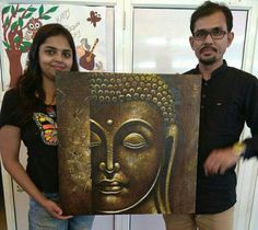 Budha Painting, Tanjore Painting, Pichwai Paintings, Indian Art Paintings, Budha Art, Buddha Wall Art, Lord Ganesha Paintings, Charcoal Art, Abstract Line Art