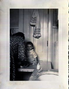 Vintage Photo..Changing Baby, 1940's Original Found Photo, Vernacular Photography by iloveyoumorephotos on Etsy