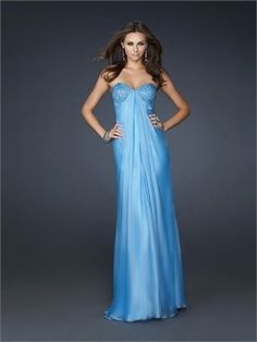 Strapless Sweetheart Neckline with Beadings Floor Length Chiffon Prom Dress PD11044 Sale Online
