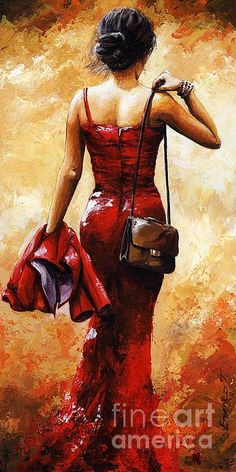 Lady In Red Painting by Emerico Imre Toth Woman Painting, Dress Painting, Painting & Drawing, Figure Painting, Red Artwork, Beautiful Paintings, Oeuvre D'art, Female Art, Lady In Red