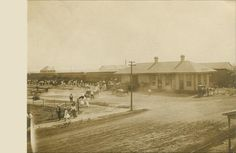 Train depot, Palacios, Matagorda County, Texas - 1910