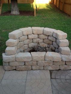 Creat an out door fire place
