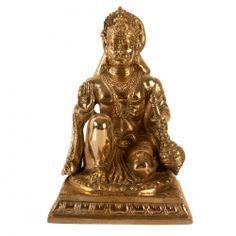Brass Sitting Hanuman ji
