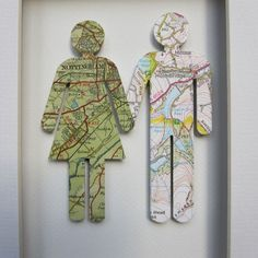 his and her maps of where you're from. love the idea!