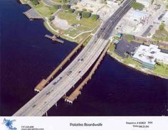 Palatka Boardwalk and Memorial Bridge over the St. Old Florida, State Of Florida, Central Florida, Palatka Florida, Putnam County, Places Of Interest, Old Houses, Big Ben, Places Ive Been
