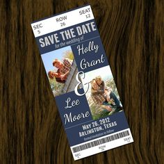 Save the Date Ticket Style
