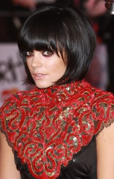 Lily Allen's cute bob! I'd do it in a different color...