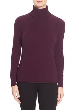 Lafayette 148 New York Cashmere Turtleneck Sweater available at #Nordstrom